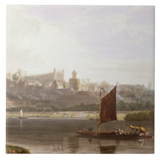 Windsor Castle from the River Meadow on the Thames Tile