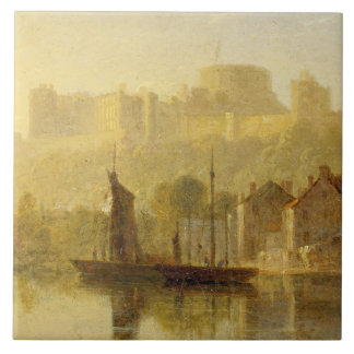 Windsor Castle from the Thames (oil on millboard) Tile