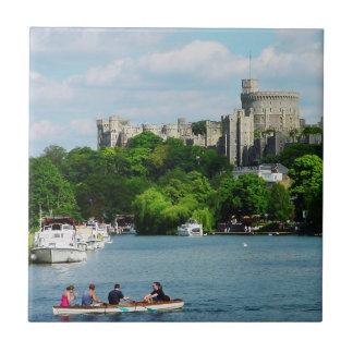 Windsor Castle from the Thames Tile