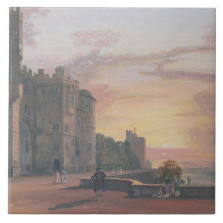 Windsor Castle: North Terrace looking west at suns Tile