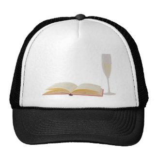 Wine and book cap