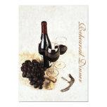 Wine bottle and grapes - Rehearsal dinner 13 Cm X 18 Cm Invitation Card