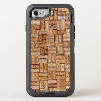 Wine Bottle Cork Neutral Tan Beige Texture Brown OtterBox Defender iPhone 8/7 Case