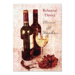 Wine bottles, grapes, corkscrew and glass 13 cm x 18 cm invitation card