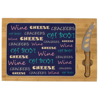 Wine Cheese Crackers Rectangular Cheese Board