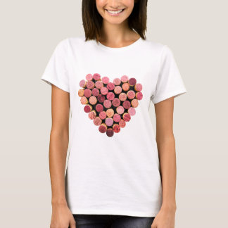 Wine Cork Heart Shirt