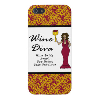"Wine Diva ""Wine Is My Award For Being Fabulous"" iPhone 5 Case"