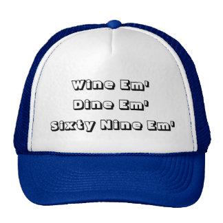 Wine em' Dine em' Funny Trucker Hat