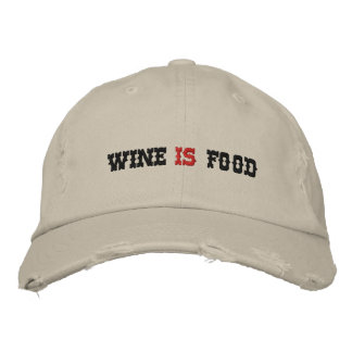 WINE    FOOD EMBROIDERED HAT