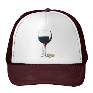 Wine Glass Art Personalised Logo Trucker Hats