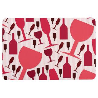 Wine glass pattern floor mat