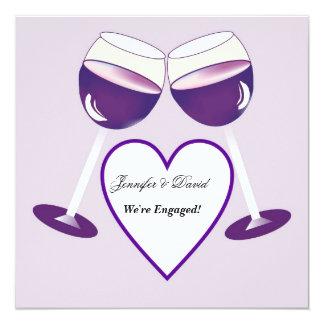 Wine Glasses Modern  Engagement Announcement