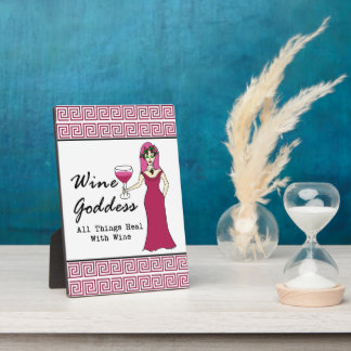 """Wine Goddess """"All Things Heal Key Display Plaques"""