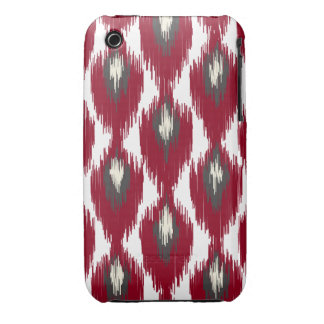 Wine Gray Abstract Tribal Ikat Diamond Pattern iPhone 3 Covers