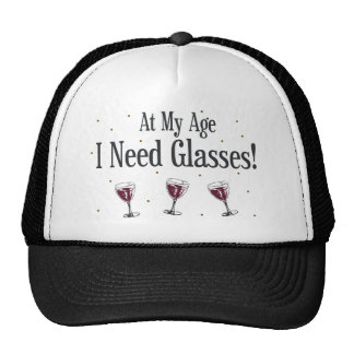 Wine Mesh Hats