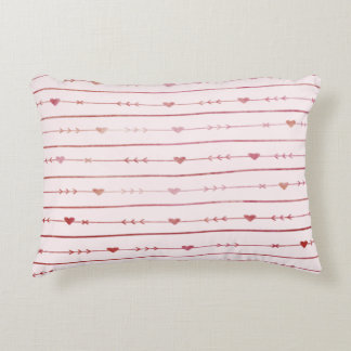 Wine Hearts and Arrows, Editable Pink Background Decorative Cushion