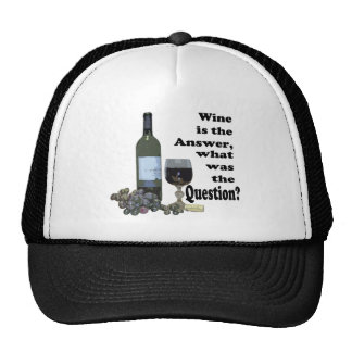Wine is the answer, what was the question? Gits Mesh Hat