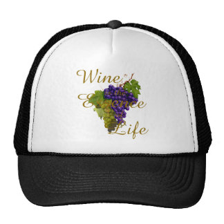 Wine is the Essence of Life Hat