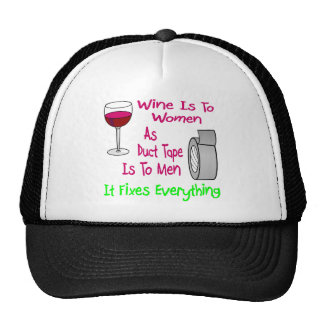 Wine Is To Women As Duct Tape Is To Men It Fixes Cap