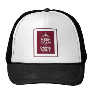 "WINE: ""KEEP CALM AND DRINK WINE"" CAP"