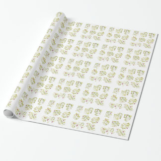 Wine Lovers Grapes Wrapping Paper