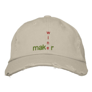 WINE MAKER GEAR EMBROIDERED BASEBALL CAP