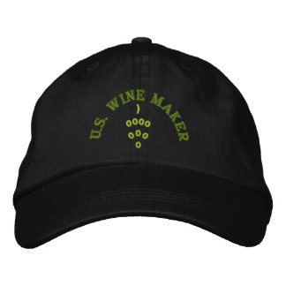 WINE MAKER HAT EMBROIDERED BASEBALL CAP
