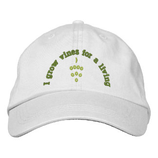 WINE MAKER, WINE MAKING, GRAPES, EMBROIDERED BASEBALL CAPS