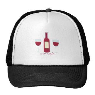 Wine Night Mesh Hats