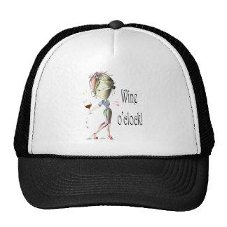 Wine o'clock humorous Wine art Gifts Hats