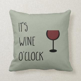 Wine O'Clock Throw Pillow