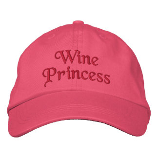 Wine Princess Embroidered Baseball Cap