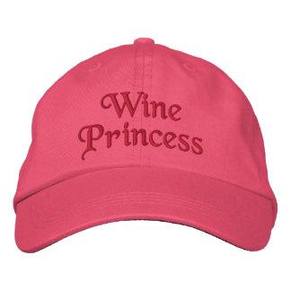 Wine Princess Embroidered Baseball Cap