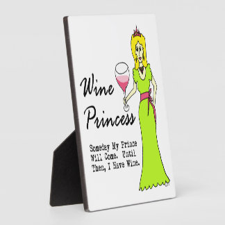 """Wine Princess """"Someday My Prince Will Come..."""" Photo Plaques"""