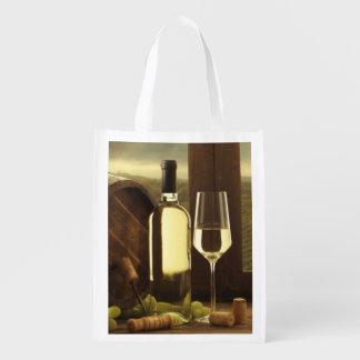 Wine Reusable Grocery Bag
