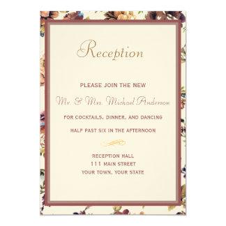 Wine Rose Reception Card