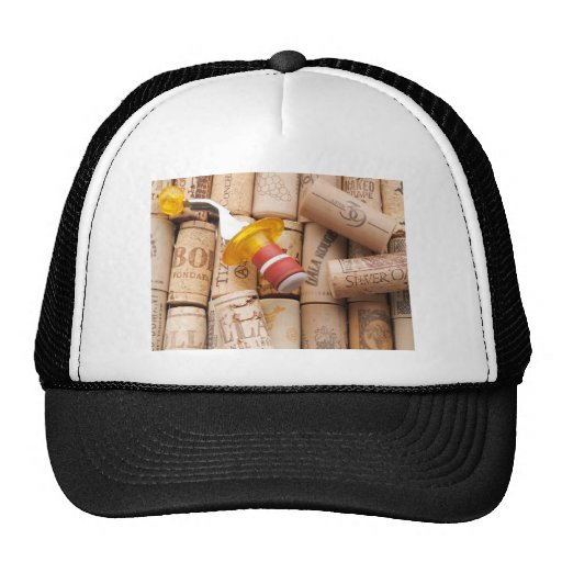 Wine Stopper On Laying Down On Corks Trucker Hats