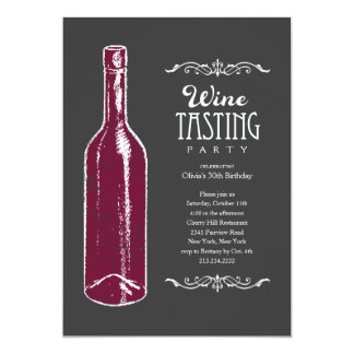 "Wine Tasting Invitations 5"" X 7"" Invitation Card"
