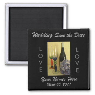 Wine Theme Wedding Magnet