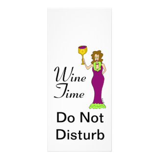 """""""Wine Time"""" WineWomenDesigns.com Promotional Personalized Rack Card"""