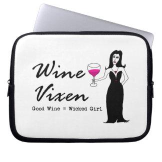 """Wine Vixen """"Good Wine = Wicked Girl"""" Laptop Computer Sleeves"""