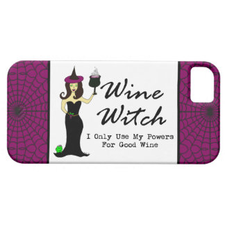 "Wine Witch ""I Only Use My Powers For Good Wine"" iPhone 5 Cover"