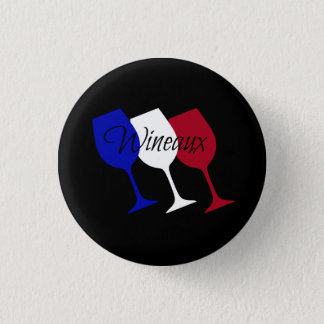 Wineaux French Flag Wine Glass Trio 3 Cm Round Badge