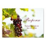 Winery Grapes Vineyard Wedding RSVP Response Card 9 Cm X 13 Cm Invitation Card