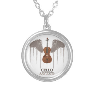 Winged Cello Ascend Design Pendant