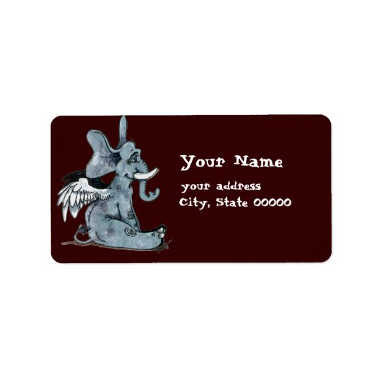 Winged Elephant~ address labels