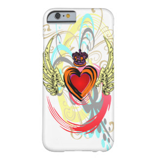 Winged Heart with Crown & Swirls iPhone 6 case