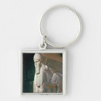 Winged human-headed bull, Neo-Assyrian Period Key Ring