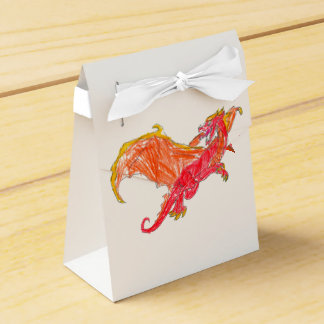 Winged Red Dragon Favour Boxes