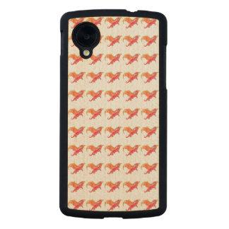 Winged Red Dragon Carved® Maple Nexus 5 Slim Case